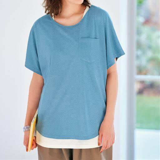 【ぽっちゃりさんサイズ】ポケット付きTシャツ