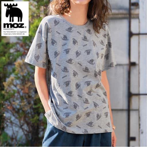 【ぽっちゃりさんサイズ】Moz ゆるシルエットロゴTシャツ(綿100%)