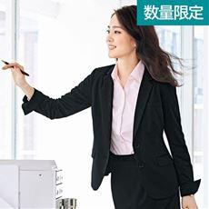 ニットテーラードジャケット(事務服・洗濯機OK・撥水)