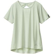 背中あき半袖Tシャツ(BODY GLOVE)(UVケア・吸汗速乾)(ヨガ)