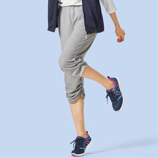 裾シャーリングパンツ(吸汗速乾・UPF25)