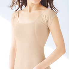 大きな汗取りパッド付きフレンチ袖(綿100%インナー・爆汗さん®)