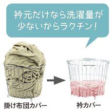 衿カバー(ほつれにくいマイヤータオル)/綿100%(パイル部)