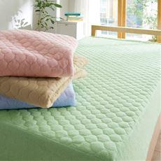 パッド一体型ベッドシーツ(ほつれにくいマイヤータオル)/肌側綿100%