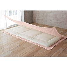 敷き布団カバー(コの字型三方開きタイプ)/綿100%