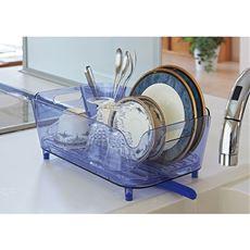 水切りバスケット(クリアカラー)/可動式排水ノズル・浸け置き洗い用止水栓付き