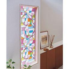 UVカット窓飾りシート/水だけで簡単に貼れる ステンドグラスみたいな質感