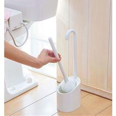 清潔収納トイレブラシ/コーティング便器を傷つけにくい