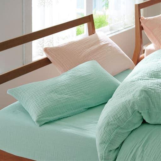 枕カバー(洗いざらしダブルガーゼ)