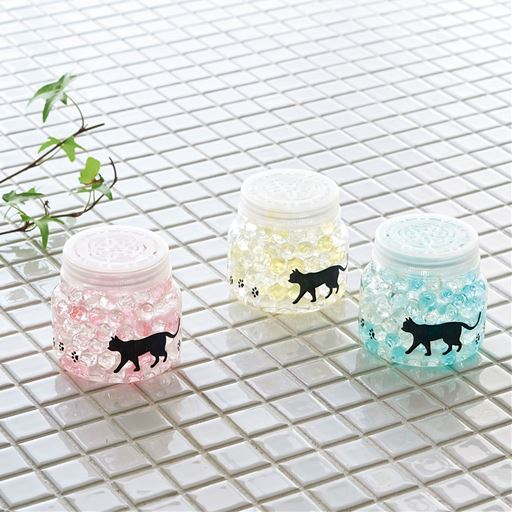 猫デザインの防カビ・消臭バイオ(2個組)/ゲルタイプ