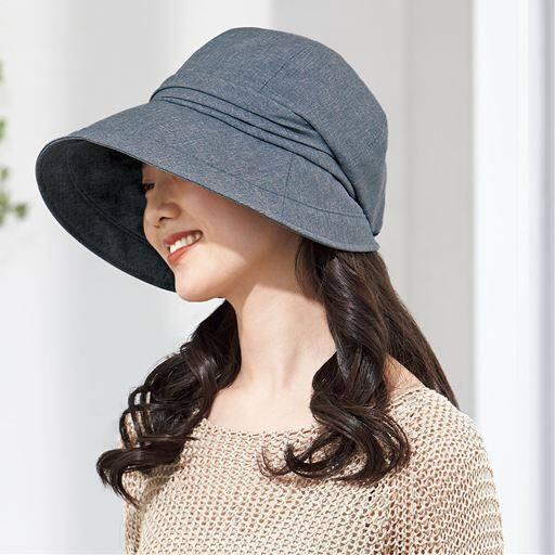 21機能で小顔に見える遮熱遮光UVクロッシェ帽子<美活計画>