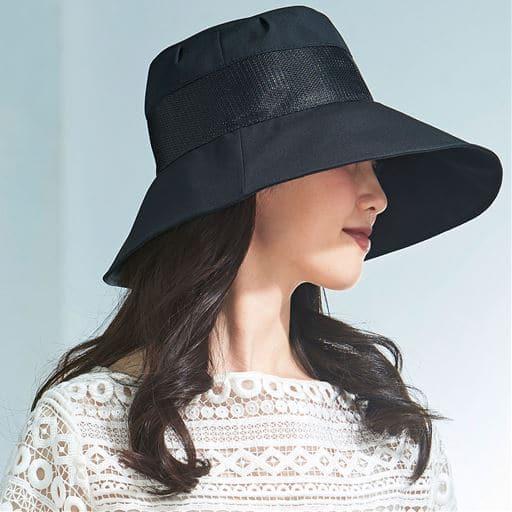 小顔に見える通気性のよい遮熱遮光UV帽子<美活計画>