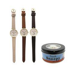 SNOOPY(スヌーピー)コミックアートウォッチ 腕時計(可愛い缶入り)