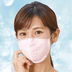 日本製抗ウイルス小顔レースマスク3枚組