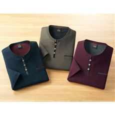 綿100%クレープ7分袖Tシャツ(色違い3枚組)
