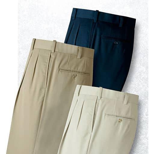 裾上げ済コットンスラックス(色違い3枚組)