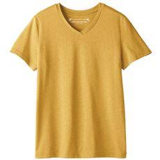 シンプルVネックTシャツ(半袖)(洗濯機OK)