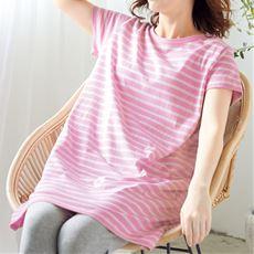 ゆるっとボーダー半袖Tシャツ(綿100%)