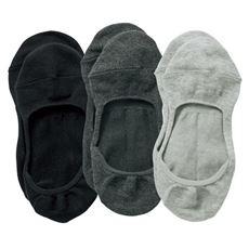 ココピタ™脱げにくいフットカバー・3足組(綿混やや深履きタイプ)