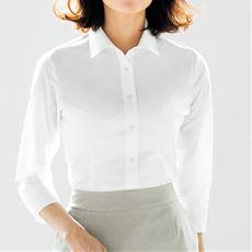 形態安定2枚組レギュラーカラーシャツ(七分袖)(洗濯機OK)