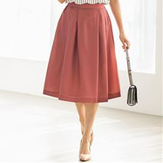 フレアスカート/軽やかな素材 洗濯後シワになりにくい(洗濯機OK)
