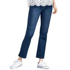 ニットデニムストレートパンツ(スマートニットジーンズ)(大きいサイズ・選べるレングス・吸汗速乾・洗濯機OK)