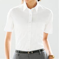 形態安定2枚組レギュラーカラーシャツ(半袖)(洗濯機OK・S~3L)