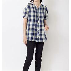 ダブルガーゼピンタック使いチュニックシャツ(綿100%・洗濯機OK)