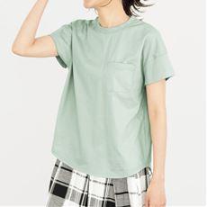 ポケット付きTシャツ(綿100%・洗濯機OK)