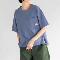 胸ポケット付きゆるシルエットT/綿100%(COTTON USA(TM)) 接触冷感(洗濯機OK)