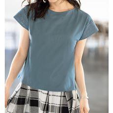 刺しゅうフレンチ袖Tシャツ
