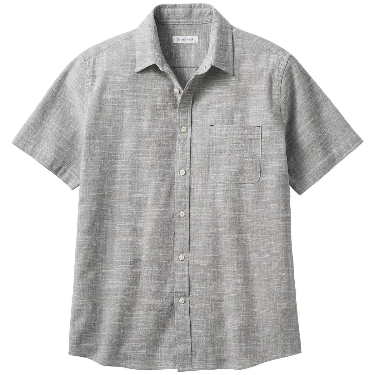 綿100%強撚パナマ織りシャツ(半袖)