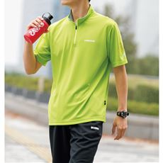 吸汗速乾機能付き ハーフジップTシャツ(ヘッド)メンズスポーツ