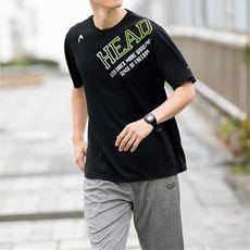 吸汗速乾機能付き ロゴプリントTシャツ(ヘッド)メンズスポーツ