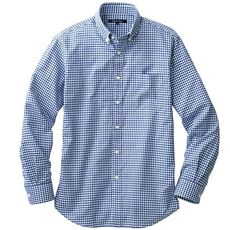 ジャストライトコットン先染め素材シャツ(長袖)