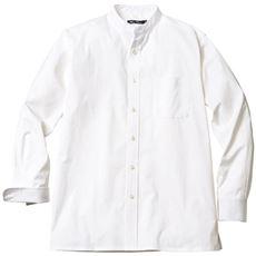 ストレッチドビー・バンドカラーシャツ(長袖)