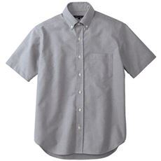 上質仕立てのオックスフォードシャツ(半袖)オーガニックコットンを100%使用