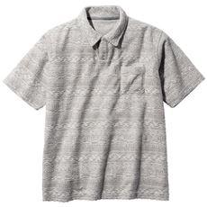 ジャカード素材スキッパーポロシャツ(ドライ機能付き)