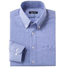 綿麻ノーアイロンYシャツ(長袖) クールビズにも対応 メンズビジネス