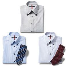 形態安定デザインYシャツ(半袖)