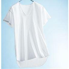 男の昔ながらの夏定番素材クレープ綿100%素材半袖U首・2枚組