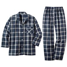 日本製フランス綾ガーゼシャツパジャマ