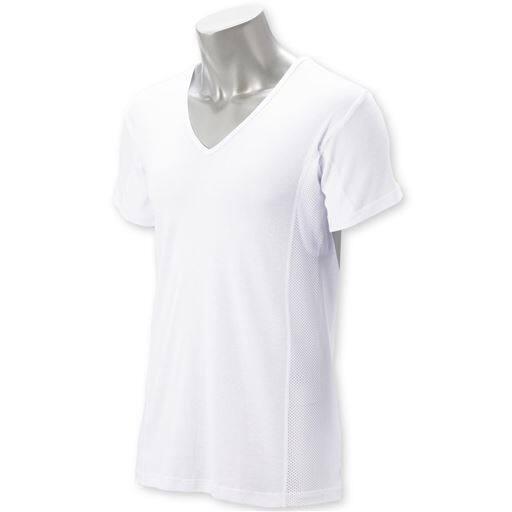 汗取り付きサイドメッシュシャツ