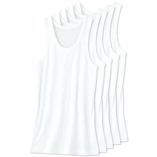 男の綿100%ランニング(5枚組)