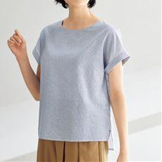 テンセル™繊維コットンリネンブラウス/フレンチ袖 接触冷感 洗濯機OK UVケア