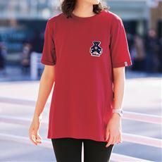 【ぽっちゃりさんサイズ】バックギャザーフレアーTシャツ(WILSON)