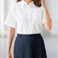 【ぽっちゃりさんサイズ】形態安定シャツ(半袖)グラマーさん用サイズ有(胸のサイズで選べる)