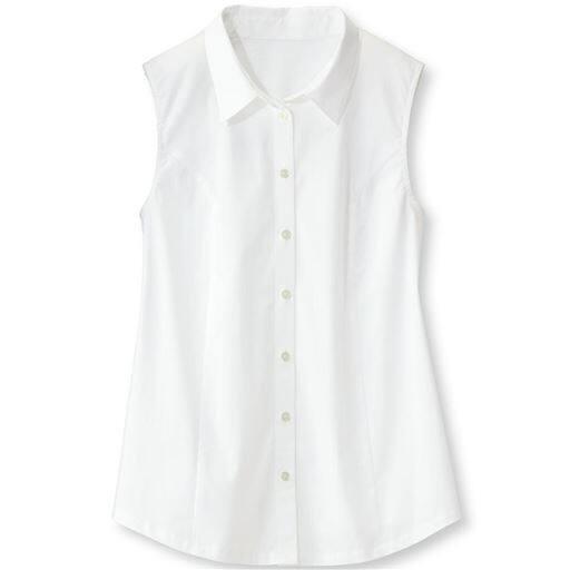 【ぽっちゃりさんサイズ】後カットソーノースリーブシャツ