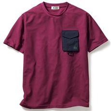 吸汗・速乾 胸ポケット付きTシャツ(ロゴス)