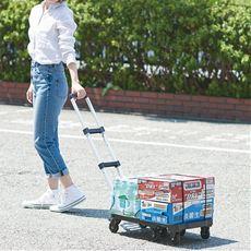 折りたたみキャリーカート/押して引いて2通りで使える 耐荷重約150kg